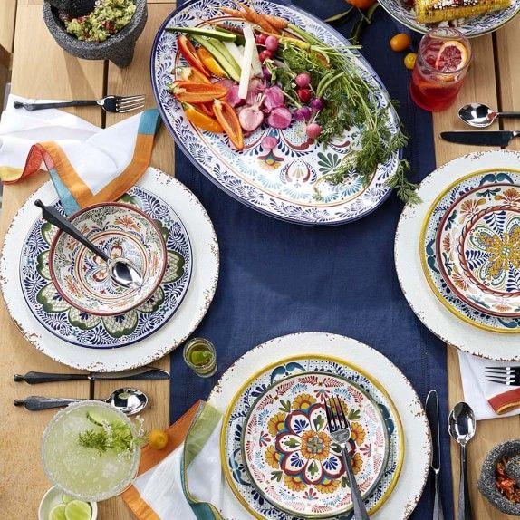 Veracruz Outdoor Melamine Dinner Plates Melamine Dinner Plates