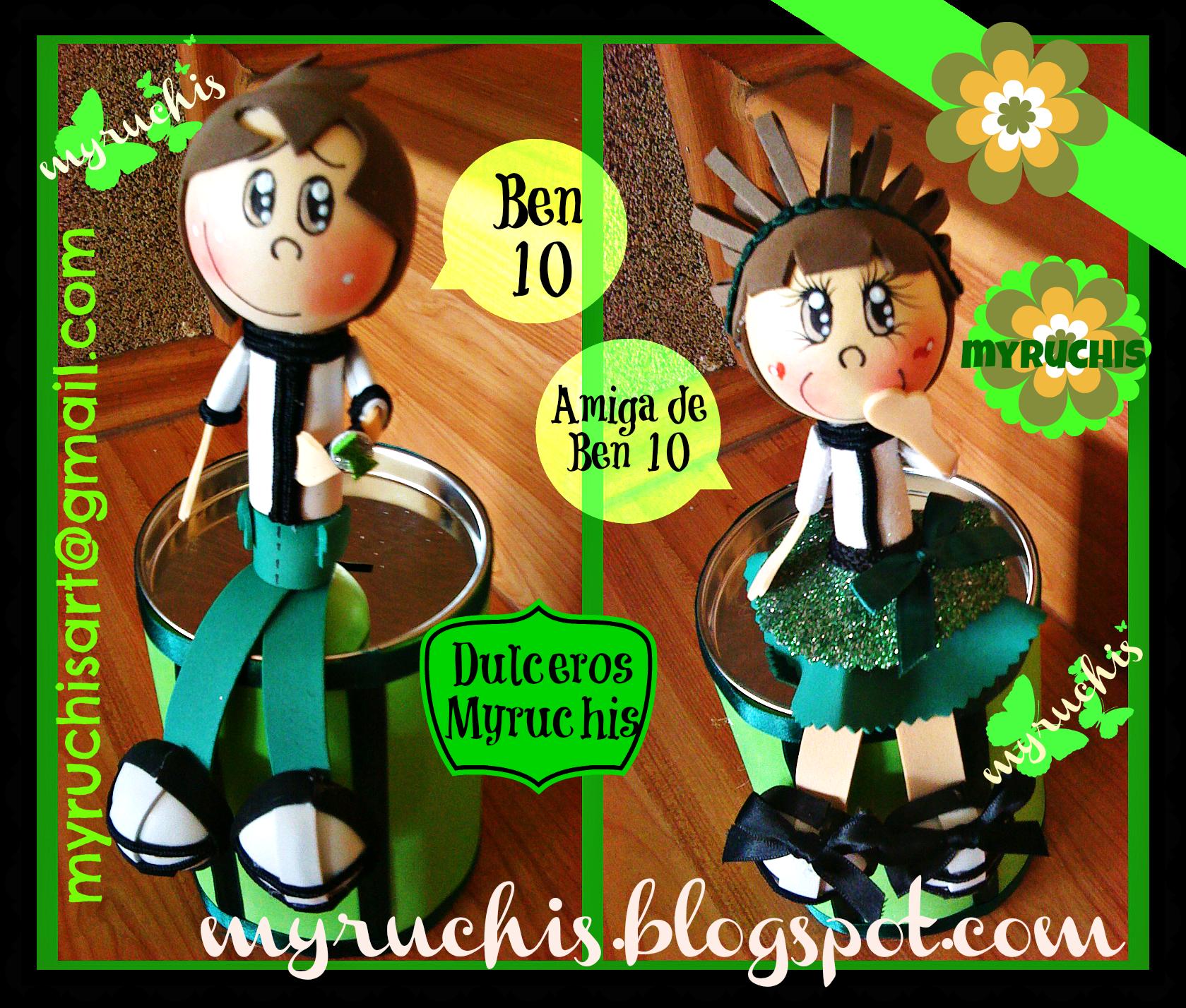 Dulceros, Fiesta Infantil, Fiesta Ben 10 myruchis.blogspot.com