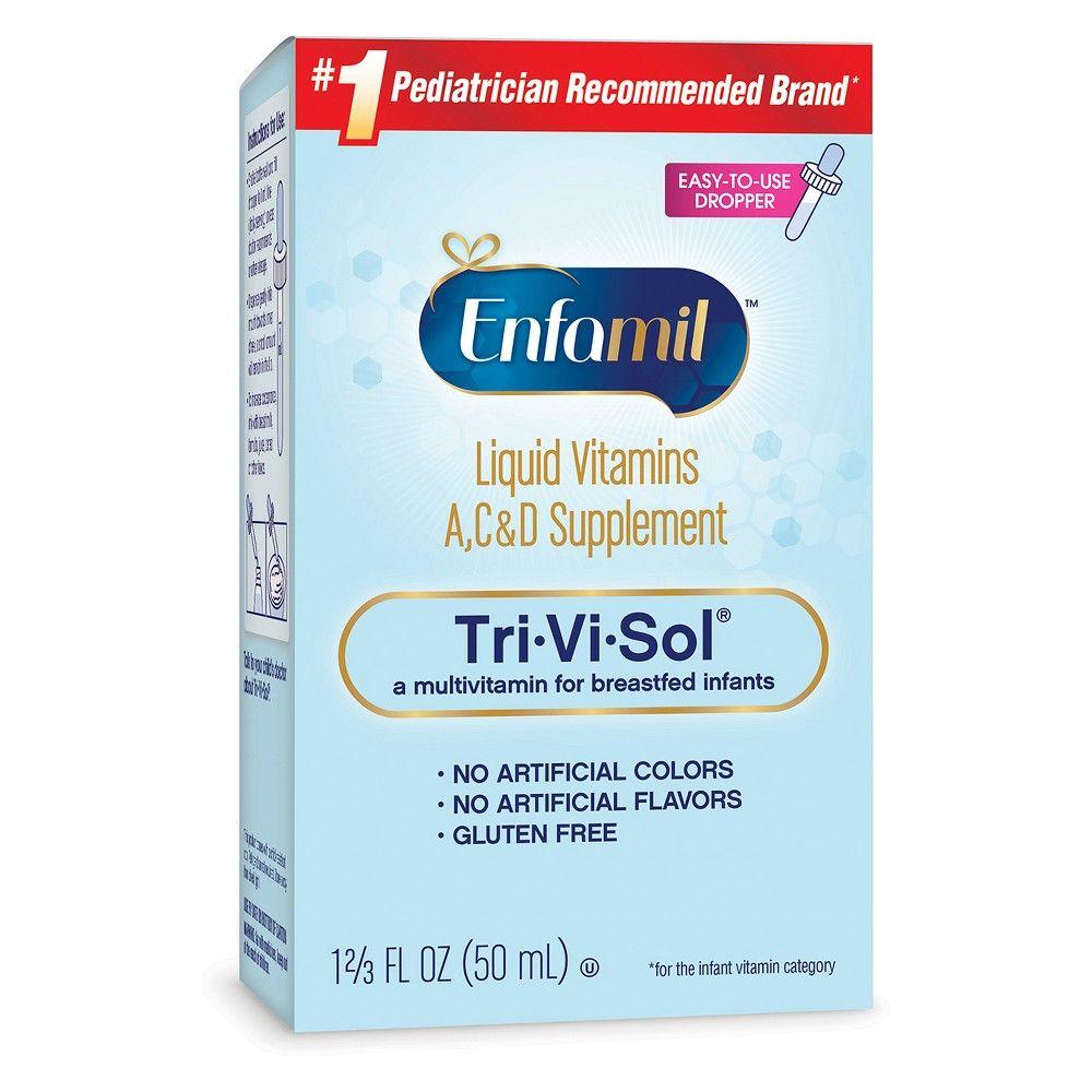 Enfamil Tri Vi Sol Infant Vitamins A C And D Dietary Supplement Drops 1 69oz In 2019 Products Liquid Vitamins Vitamins Multivitamin Supplements