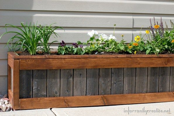 how to build an upcycled planter box pinterest planters fences rh pinterest com diy planter boxes making planter boxes from wood