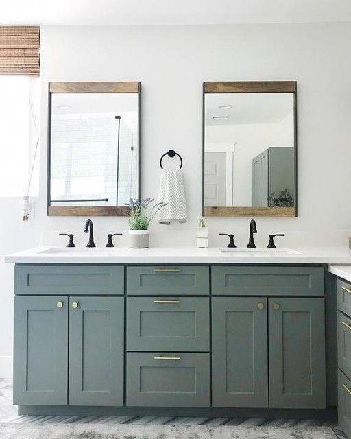 Photo of Industrial Metal & Wood Wall Mirror