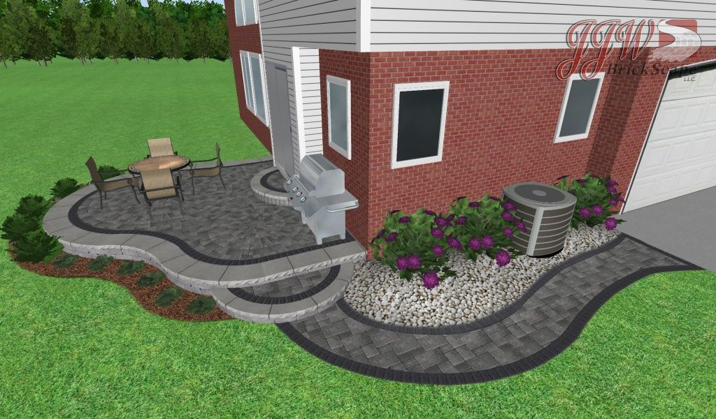 Brick Paver Patio Shelby Township | Small Paver Patio Macomb Twp., MI |  Raised