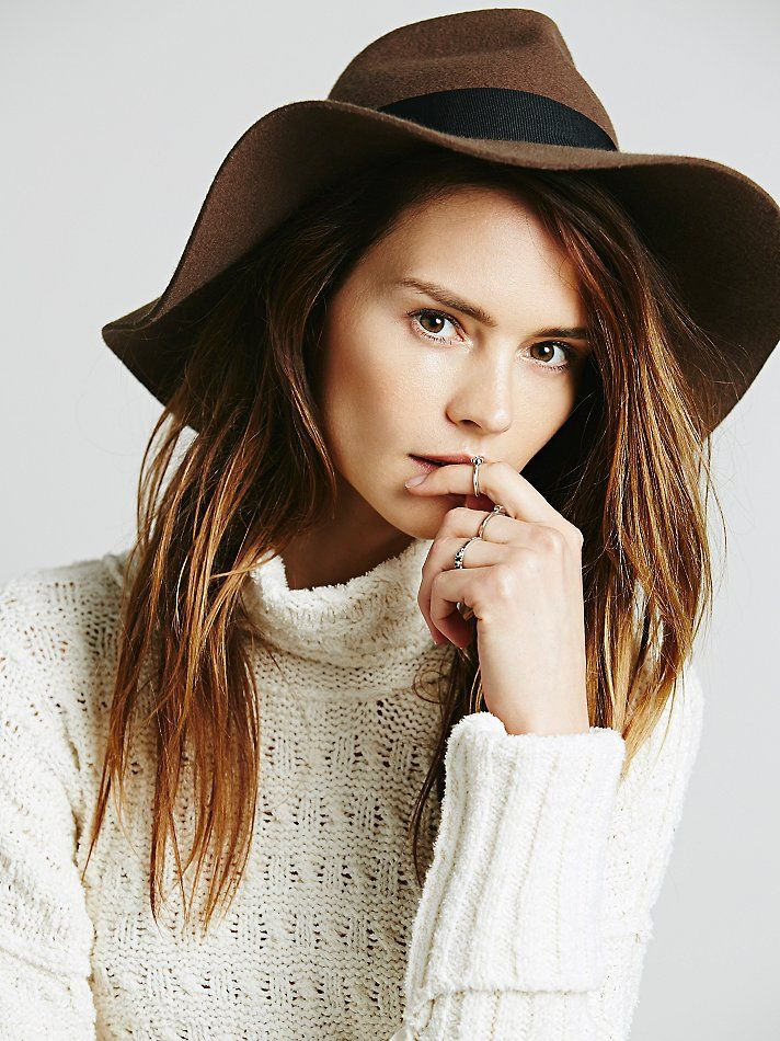 2c05c3b99738e0 Christy's Crown Collection Ella Hat at Free People Clothing Boutique.  Elegant wide-brimmed wool fedora ...