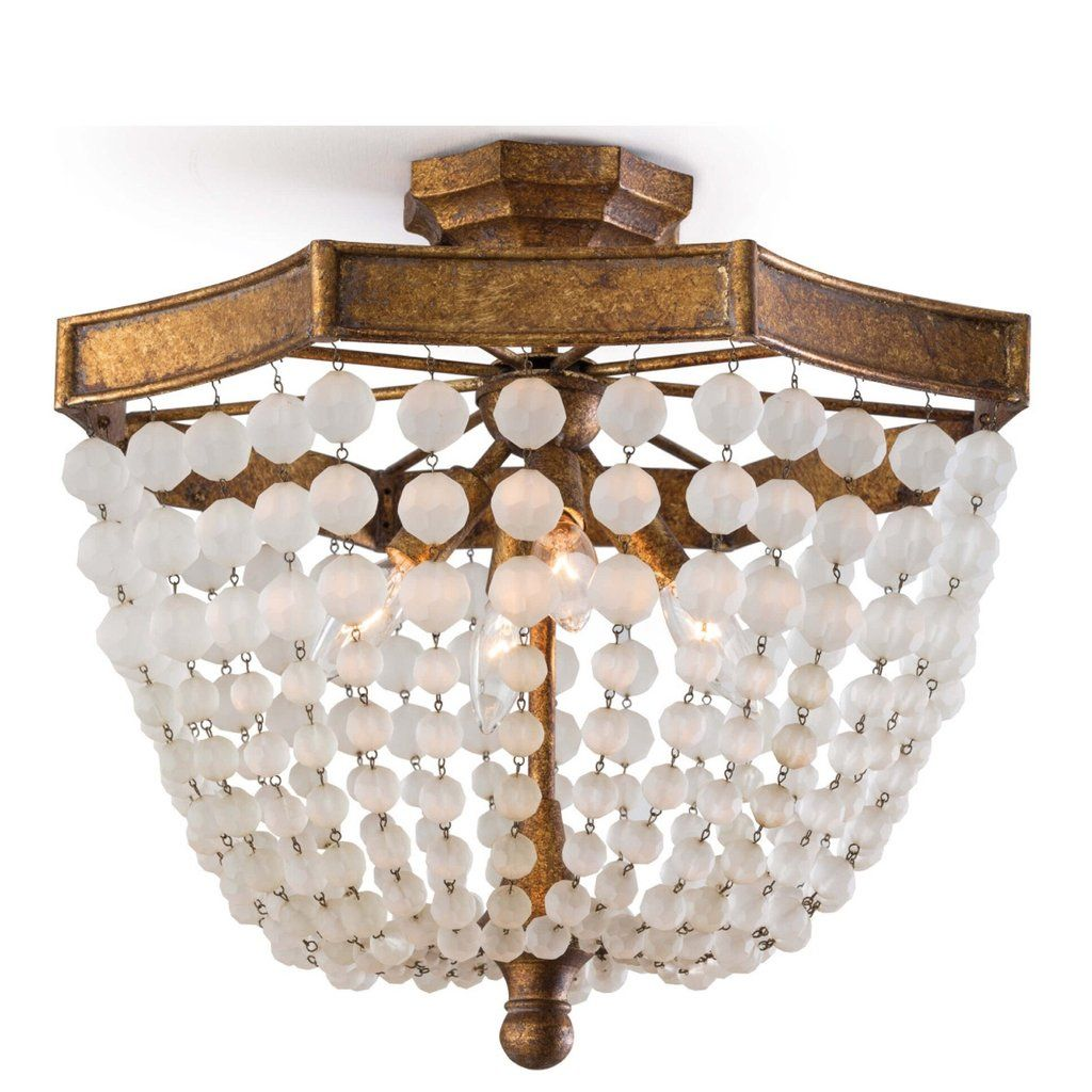 Frosted Bead Semi Flush Mount With Images Semi Flush Lighting