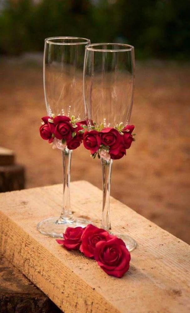 5c1a16a909 Darčeky pre svadobčanov - Svadobné poháre v červenom - 6490435