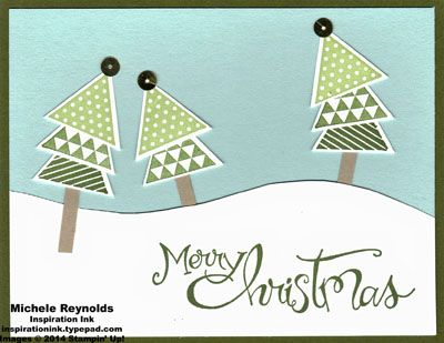 Geometrical Topsy Turvy Triangle Trees by Michelerey - Cards and Paper Crafts at Splitcoaststampers