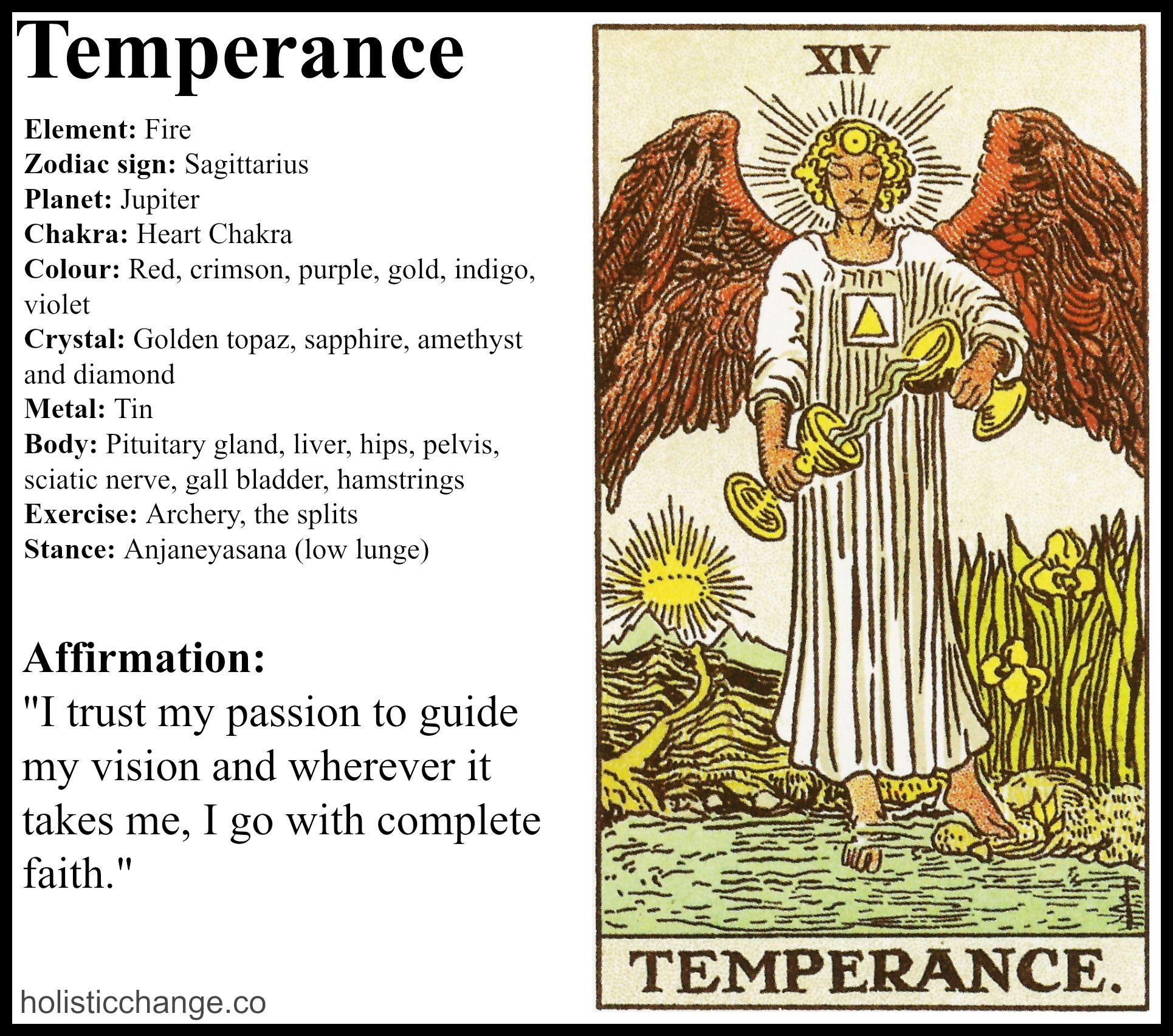 Angelorum - Tarot and Healing  Temperance tarot card, Temperance