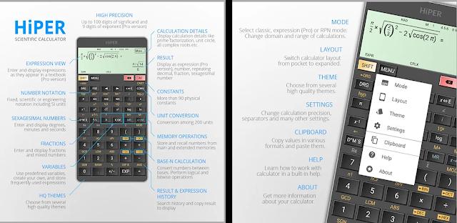 تحميل تطبيق الآلة الحاسبة العلمية Hiper Calc Pro المدفوع لحل العمليات الحسابية للأندرويد مجانا 2020 Graphing Calculator Calculator Graphing