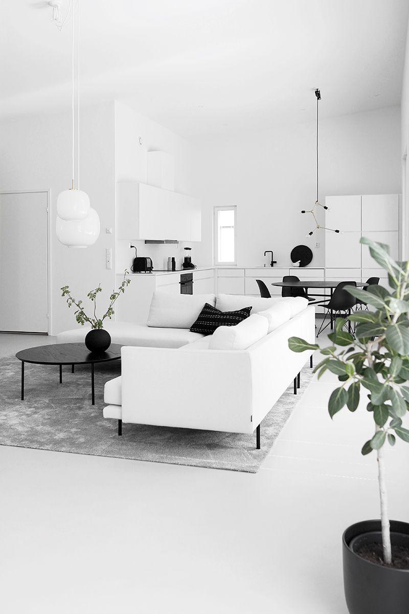 Home Tour #1 Monochrome Minimalist Family Home in Espoo Finland - DESIGNSETTER - Design Lifestyle and Interior Design Magazine
