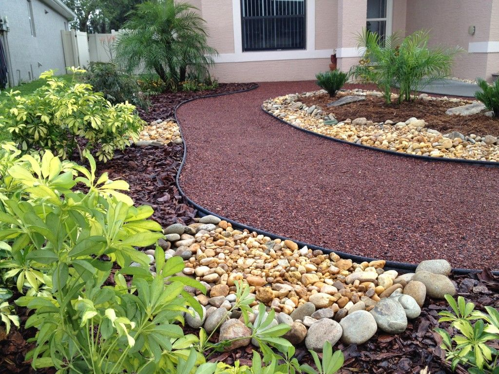 Perfect for us small front yards landscape without grass for Small backyard landscape design