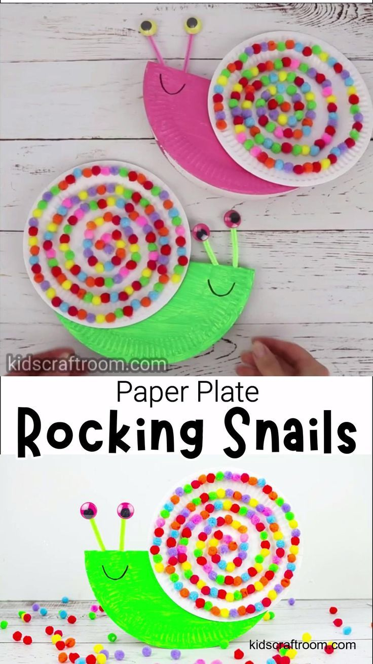 Photo of Rocking Paper Plate Snail Craft