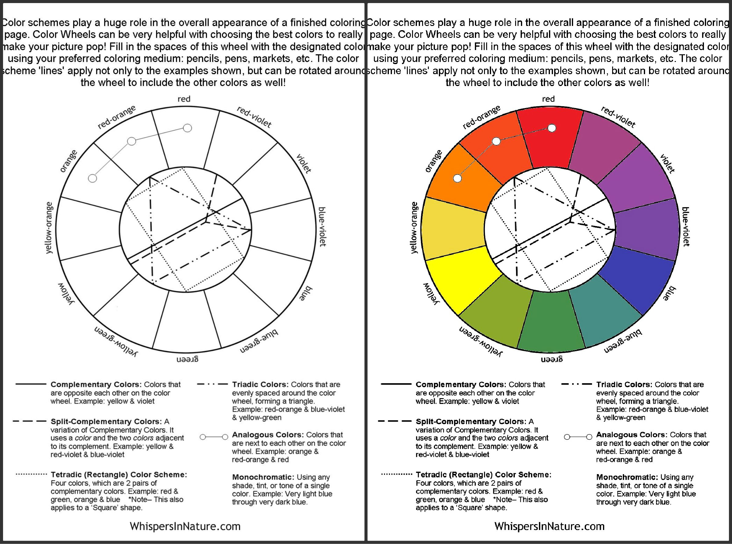 Color wheel complementary colors - Color Wheel Diy Free Adult Coloring Pages Color Wheel Print And Fill In With
