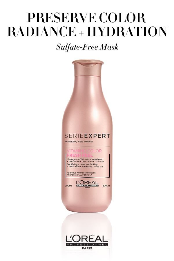 To Preserve Color Radiance And Hydration Use The Vitamino Color Aox Sulfate Free Mask Salon Business Plan Loreal Color Treated Hair