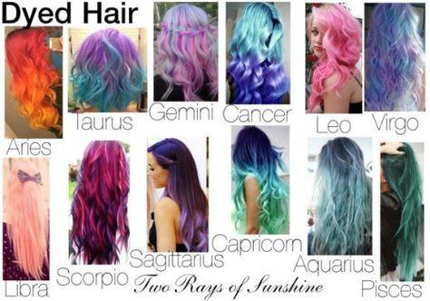 Hair Color That Represents Each Zodiac Sign Zodiac Sign Fashion Zodiac Signs Zodiac Clothes