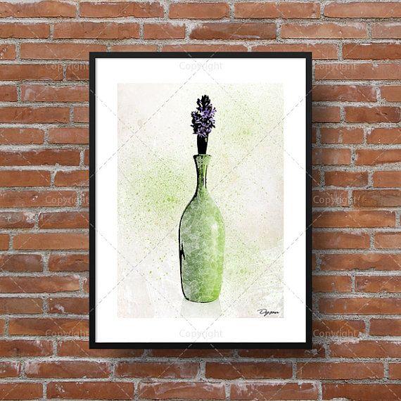 Illustration d'une fleur [lilas] dans un pot. Idéal pour afficher dans le séjour, le salon ou le bureau!