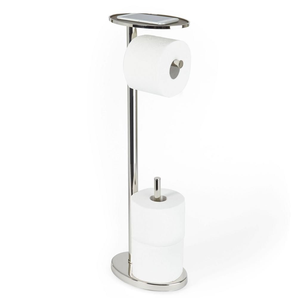 Better Living Ovo Toilet Caddy Toilet Paper Holder In Polished