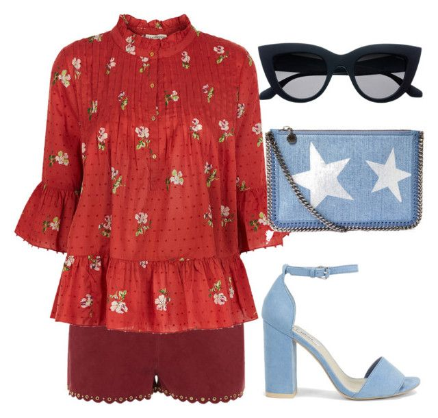 """""""Franky"""" by kyalumomo on Polyvore featuring Vanessa Bruno, Ulla Johnson, STELLA McCARTNEY and Nly Shoes"""