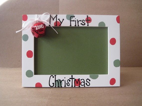 Baby S First Christmas Picture Frame By Baitser On Etsy