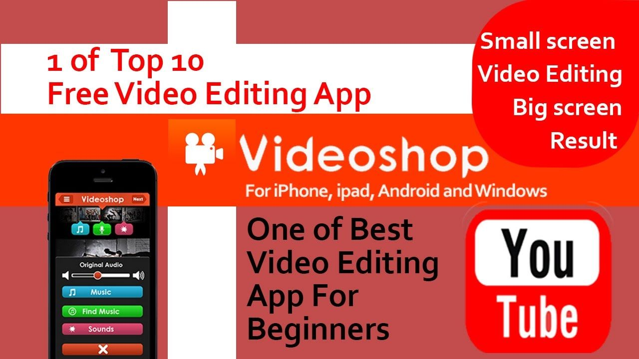 Free Android Ios Video Editing App For Youtube Beginners Videoshop Video Editing Apps Video Editing Find Music