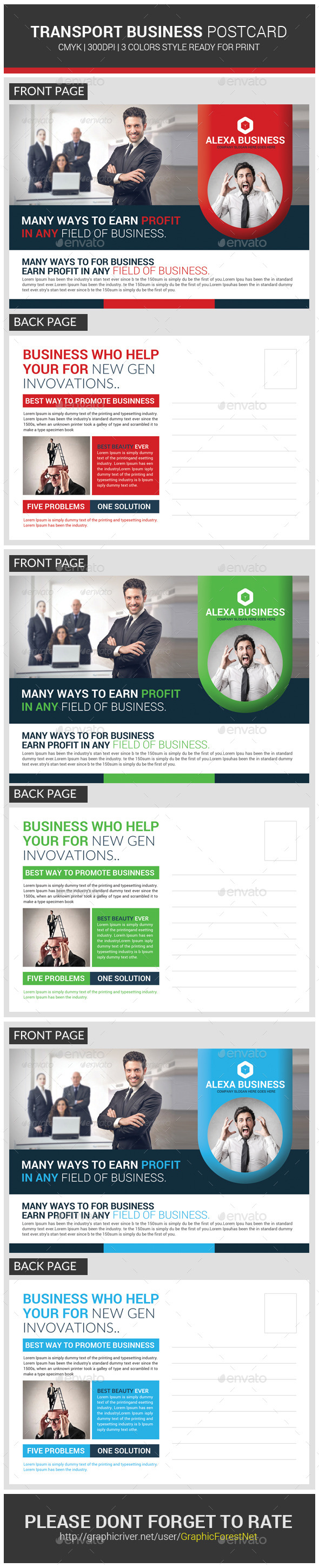Transport business postcard template business postcards postcard transport business postcard template accmission Gallery