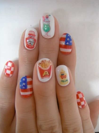fourth of july ketchup fries nail