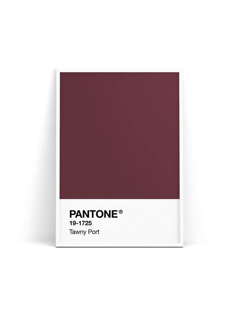 Pantone Print Pantone Poster Pantone Tawny Port Pantone Etsy Online Printing Companies Pantone Print Store