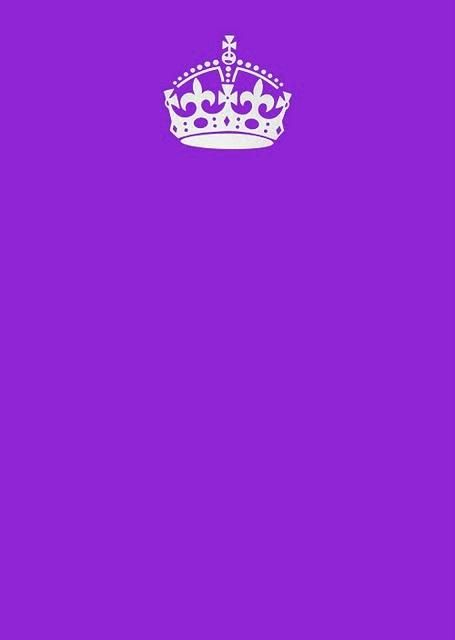 Keep Calm And Carry On Purple Blank Meme Template