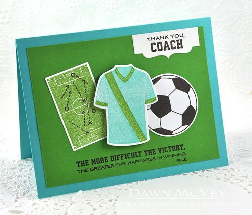 Thank You, Coach Card by Dawn McVey for Papertrey Ink (January 2016)