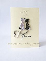 Quilled Cats Card
