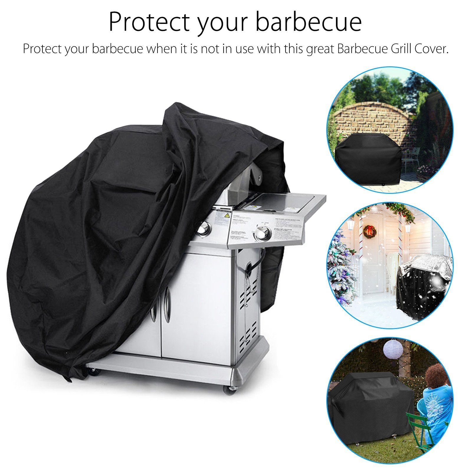 """BBQ Gas Grill Cover 67/"""" Barbecue Protection Waterproof Outdoor Heavy Duty Weber"""