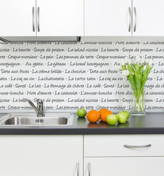 French Menu Typography Wall Stencil Allover by royaldesignstencils ...