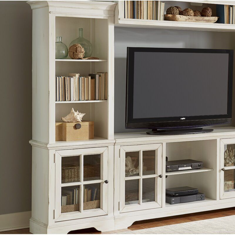 Lorelai Solid Wood Entertainment Center For Tvs Up To 75 Inches In 2020 Wood Entertainment Center Living Room Entertainment Center Entertainment Center