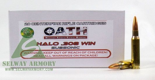 OATH Halo  308 Winchester 180 Gr  Copper Solid Lead-Free Match