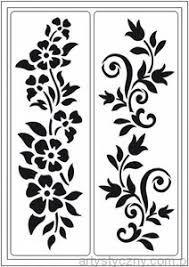 Znalezione Obrazy Dla Zapytania Szablony Do Wycinania Kwiaty Fabric Paint Designs Stencils Flower Stencil