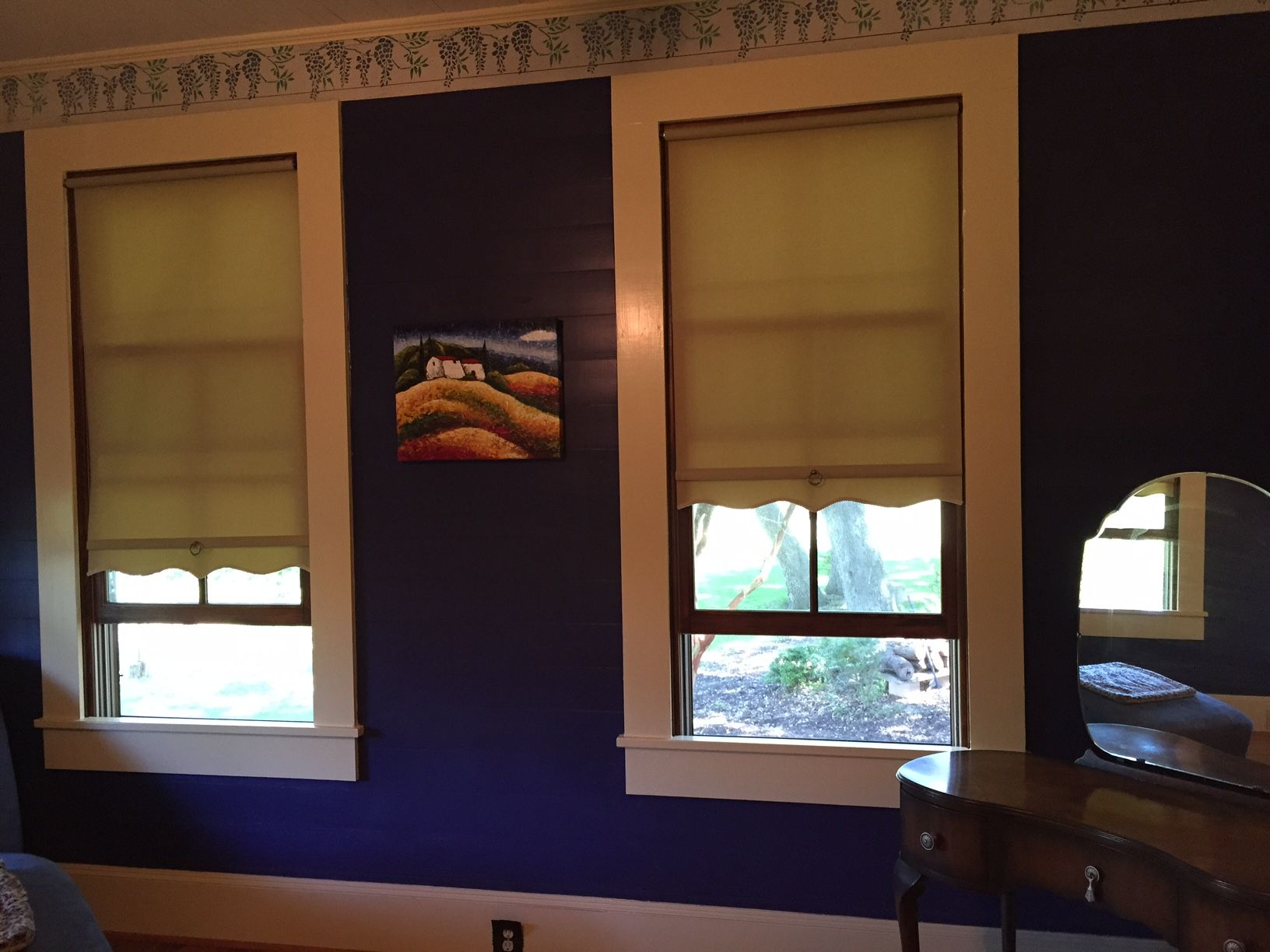 How to fix springs in roller shades and adjust spring tension - Cotton Ecru Spring Roller Shades Bungalow Scallop And 4 Fringe