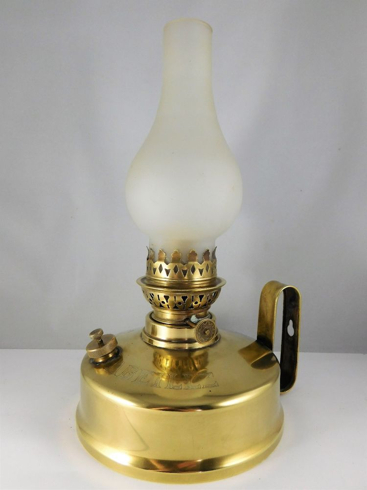 Lampe A Petrole Abeille En Laiton Made In France Oil Lamp Collection