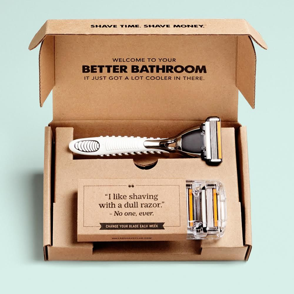 how to open dollar shave club razors