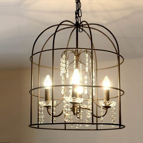 Birdcage Chandelier Ideas Easily Work With Many Different Styles Vintage Birdcages Pe Crystal Pendant Lighting Crystal Chandelier Lighting Birdcage Chandelier