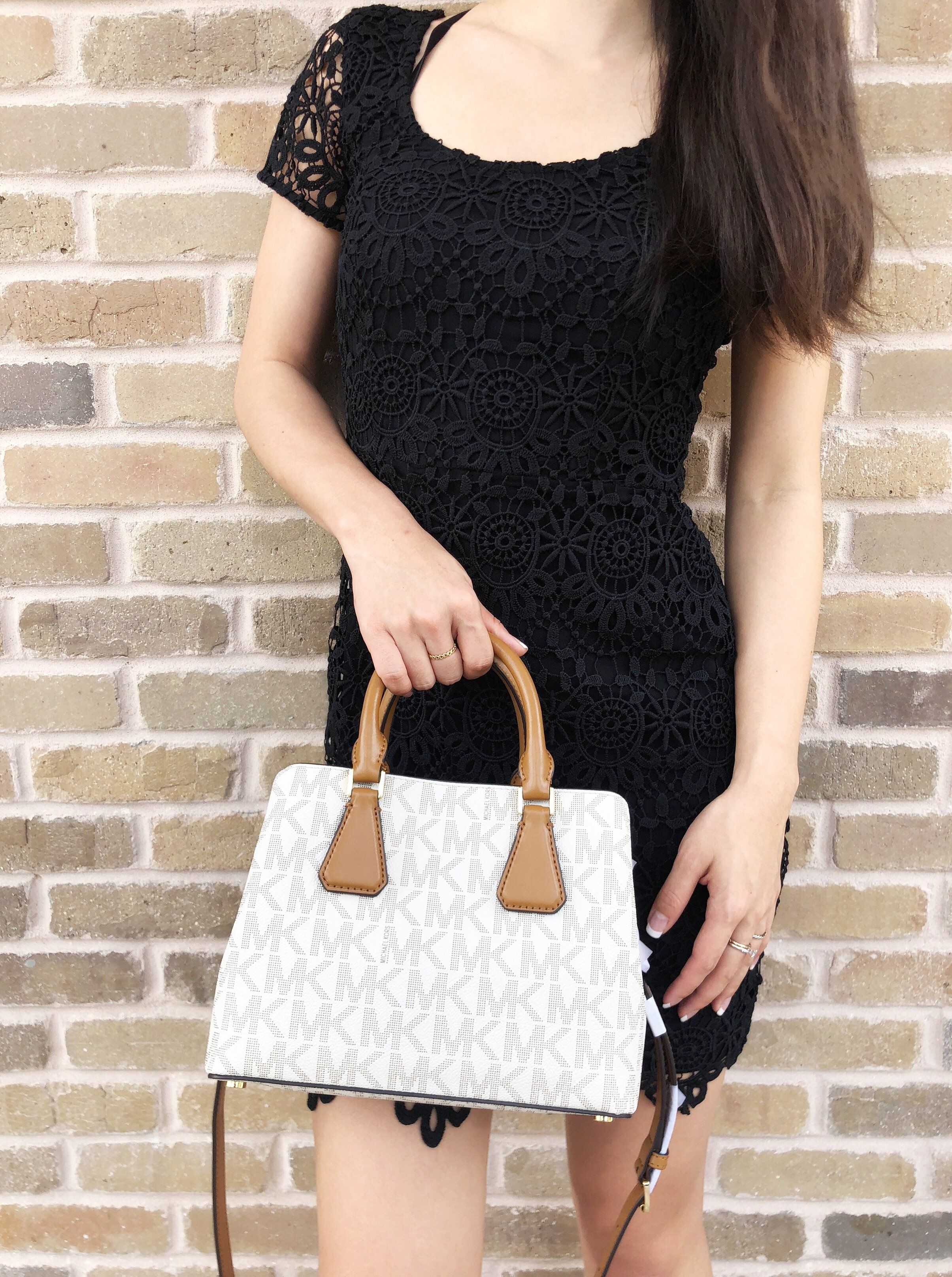 9a33a335e908 Michael Kors Camille Savannah Small Satchel Vanilla MK Acorn Mini Crossbody  #MK #MichaelKors #Handbags