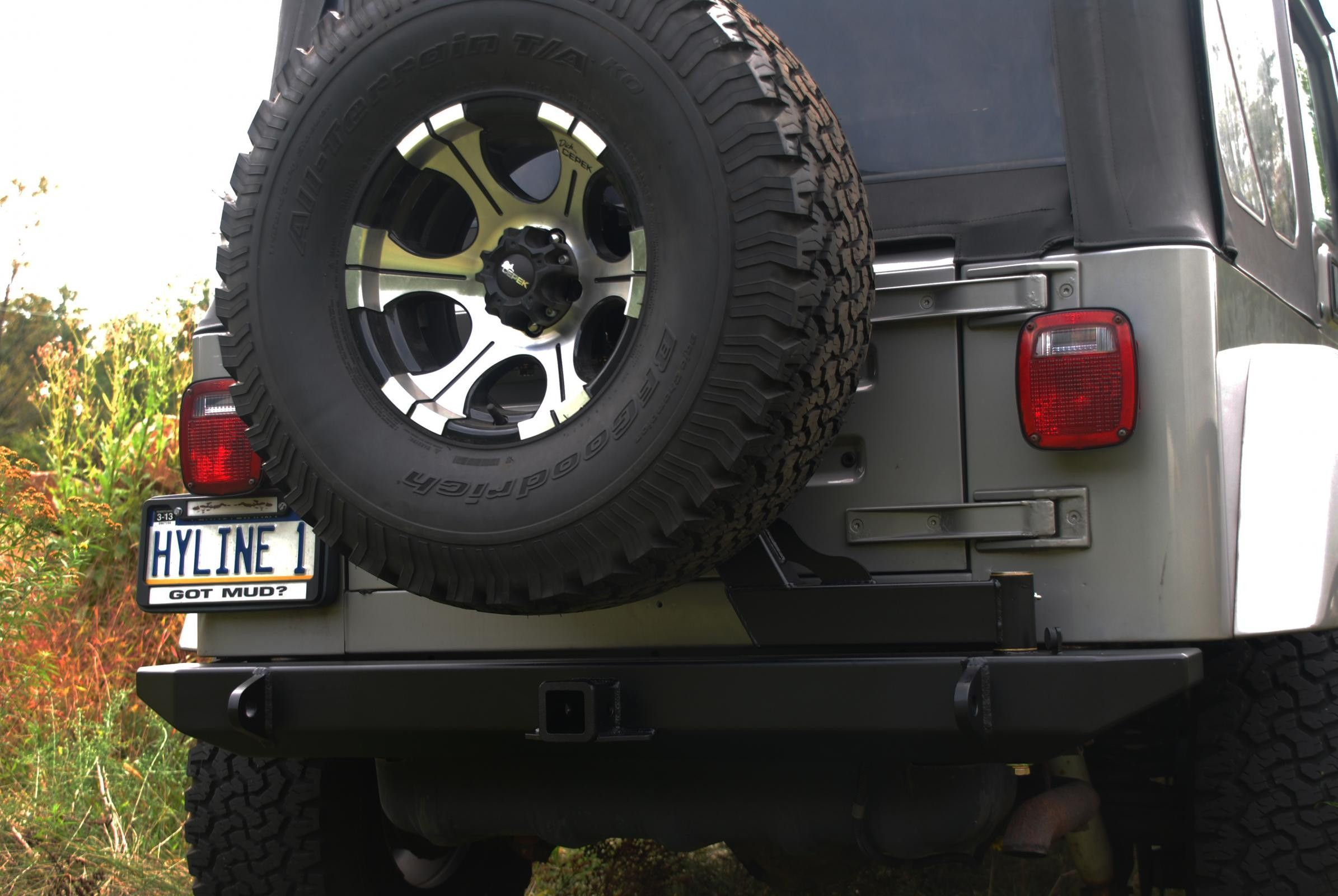 Tj Yj Rear Swingout Tire Carrier Assembly Hyline Offroad Jeep