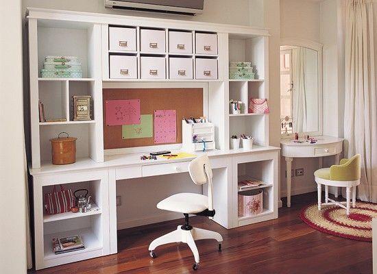 Resultado de imagen para mueble biblioteca con escritorio for Decoracion de oficinas juveniles