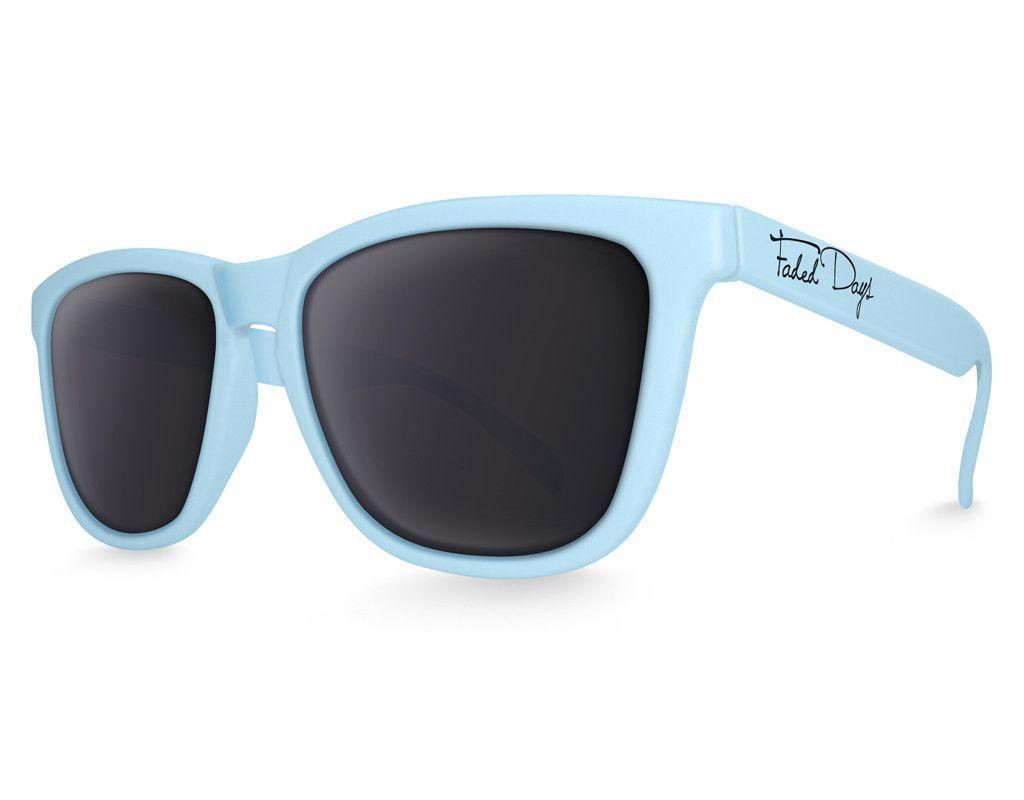 Pastel Blue Wayfarer Sunglasses – Faded Days