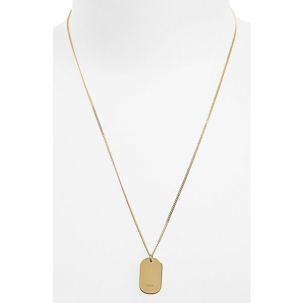 APC Pendant Necklace 110 liked on Polyvore featuring mens