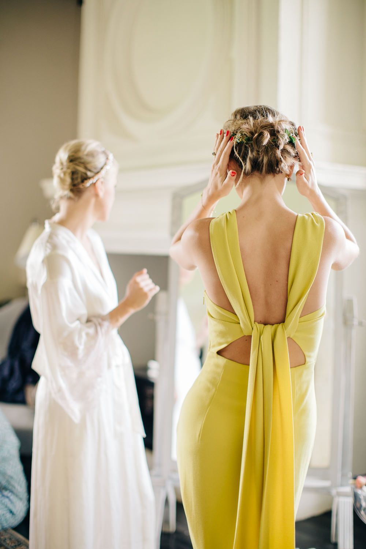 Mustard yellow bridesmaids dresses from whistles bridesmaids dress