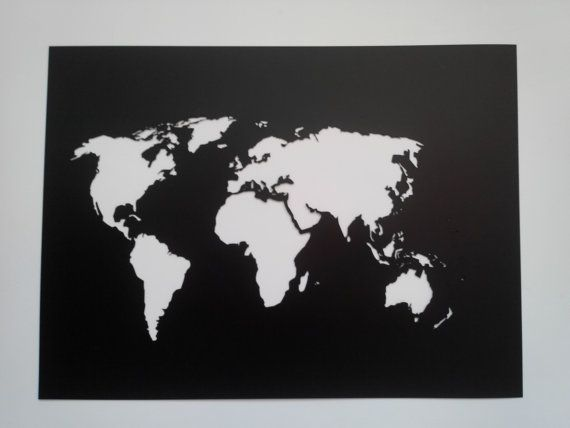 World Map Stencil / Plastic reusable / Painting, art supply, wall