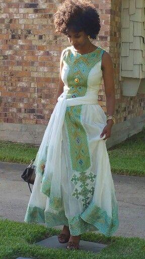Ethiopian dress/habesha dress/maxi dress | ethiopian/ habesha maxi ...