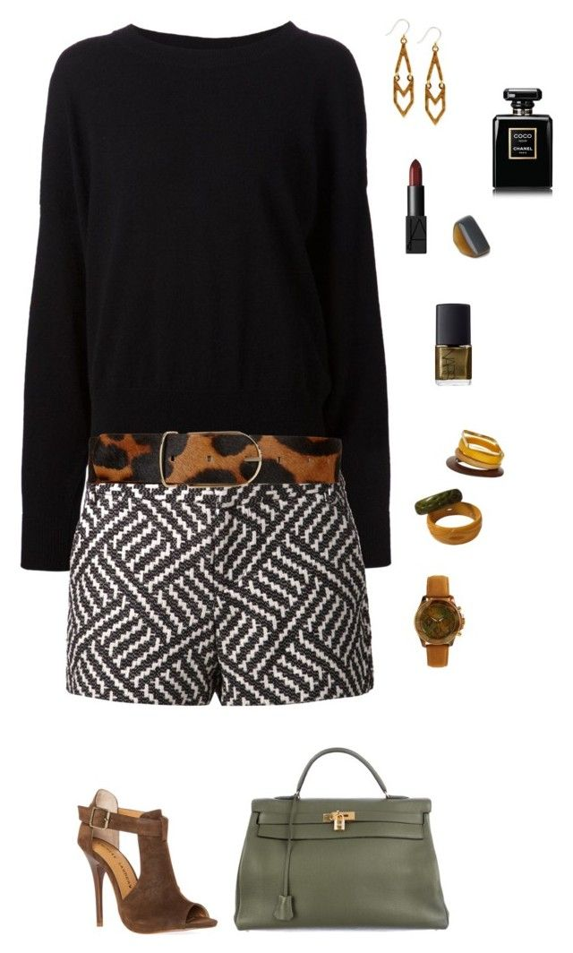 Nice & simple by kruhdahian on Polyvore featuring polyvore, fashion, style, The Row, Alice + Olivia, Chinese Laundry, Hermès, Lucky Brand, Isaac Mizrahi, Topshop, Marni, Maison Boinet, NARS Cosmetics, Chanel and clothing