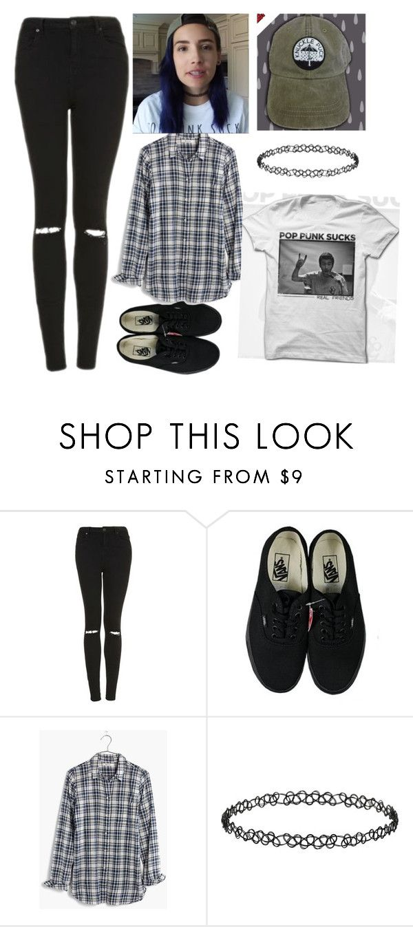 """""""inspired by ariana niki (on youtube)"""" by jasminisneckdeep ❤ liked on Polyvore featuring Topshop, Vans, Madewell and Dorothy Perkins"""