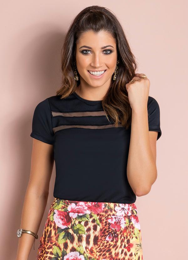 57419b2eb Blusa com Recortes em Tule (Preta) | Moda Cristã | Fashion, Dresses ...
