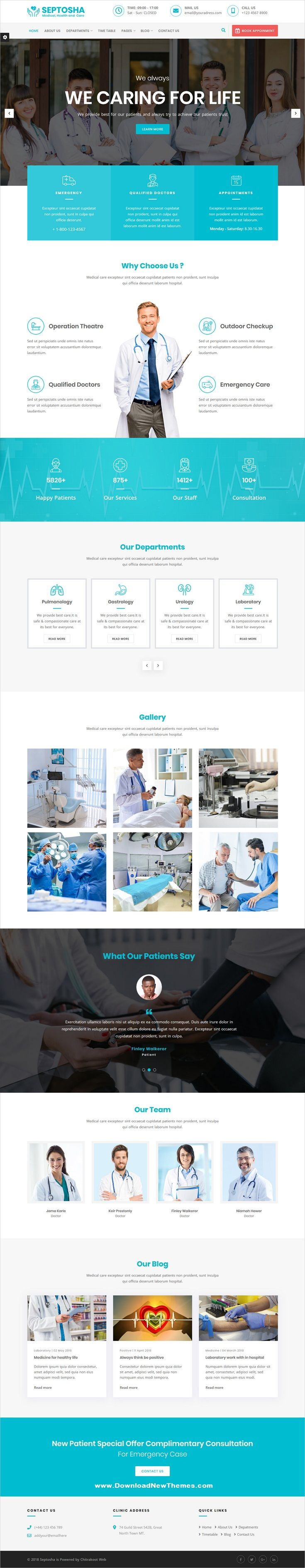 Septosha is a clean, elegant and modern design responsive